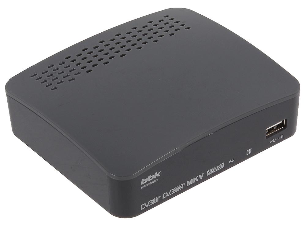 Цифровой телевизионный DVB-T2 ресивер BBK SMP129HDT2 темно-серый tesler dsr 310 цифровой телевизионный ресивер dvb t2