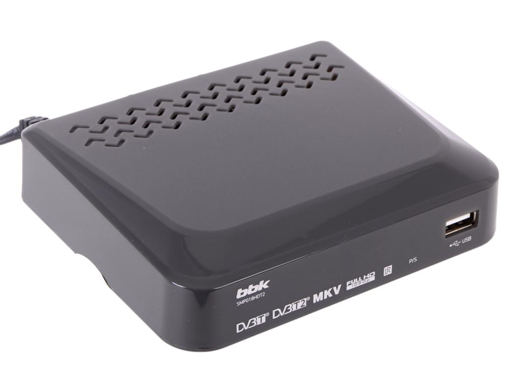 Цифровой телевизионный DVB-T2 ресивер BBK SMP018HDT2 темно-серый цифровой телевизионный dvb t2 ресивер bbk smp021hdt2 тёмно серый