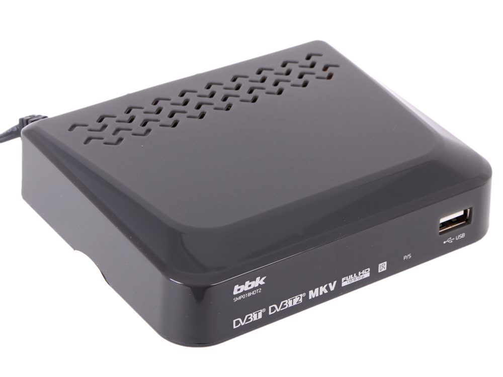 Цифровой телевизионный DVB-T2 ресивер BBK SMP018HDT2 темно-серый tesler dsr 310 цифровой телевизионный ресивер dvb t2