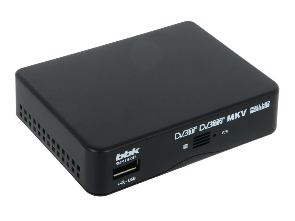 Цифровой телевизионный DVB-T2 ресивер BBK SMP131HDT2 черный