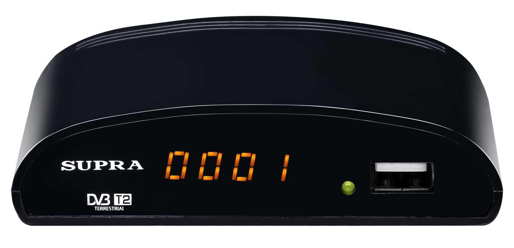 Цифровой телевизионный DVB-T2 ресивер SUPRA SDT-83 черный