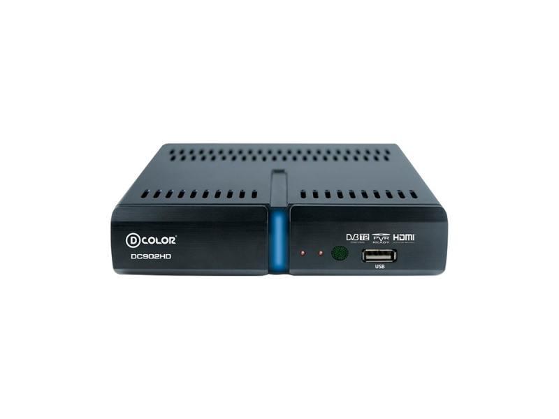 Тюнер цифровой DVB-T2 D-Color DC902HD HDMI USB черный d color dc902hd