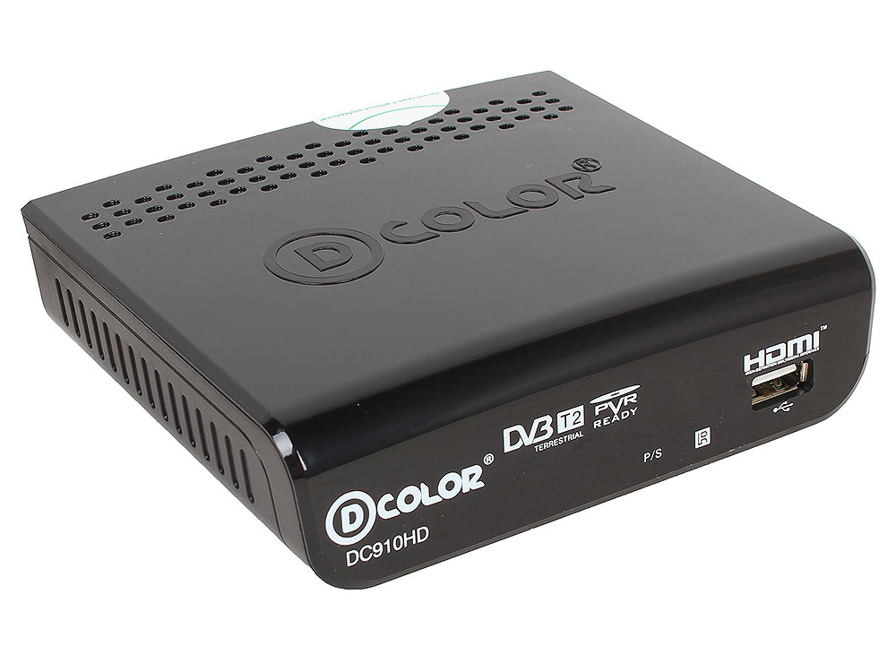 Цифровой телевизионный DVB-T2 ресивер D-Color DC910HD