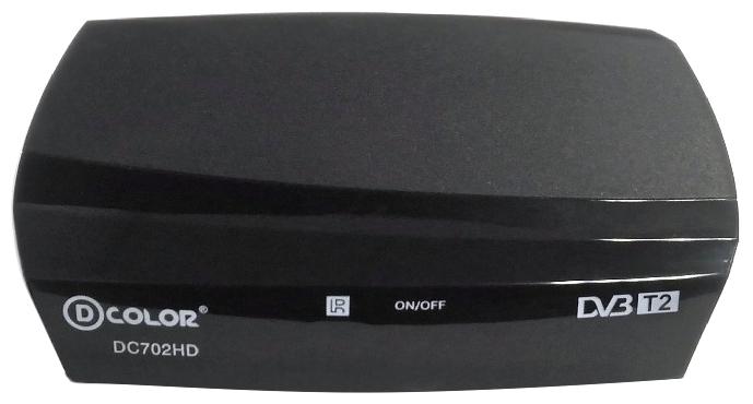 Цифровой телевизионный DVB-T2 ресивер D-Color DC702HD