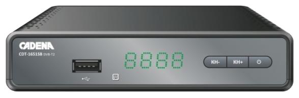 Цифровой телевизионный DVB-T2 ресивер CADENA CDT-1651SB цифровой телевизионный ресивер d color dc 1301 hd