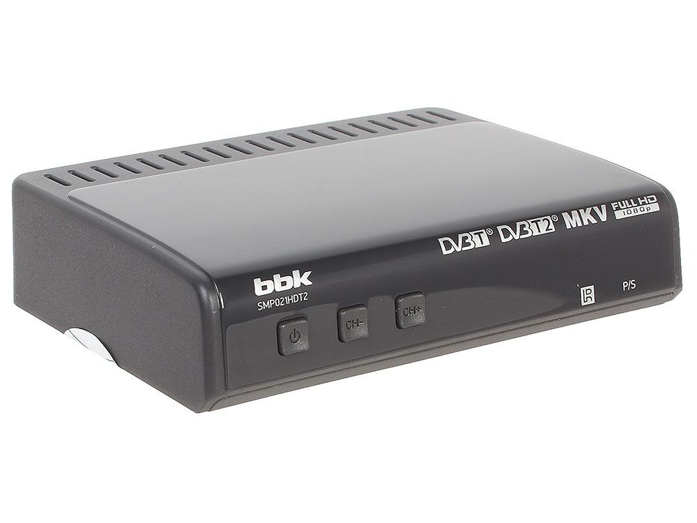 Цифровой телевизионный DVB-T2 ресивер BBK SMP021HDT2 тёмно-серый