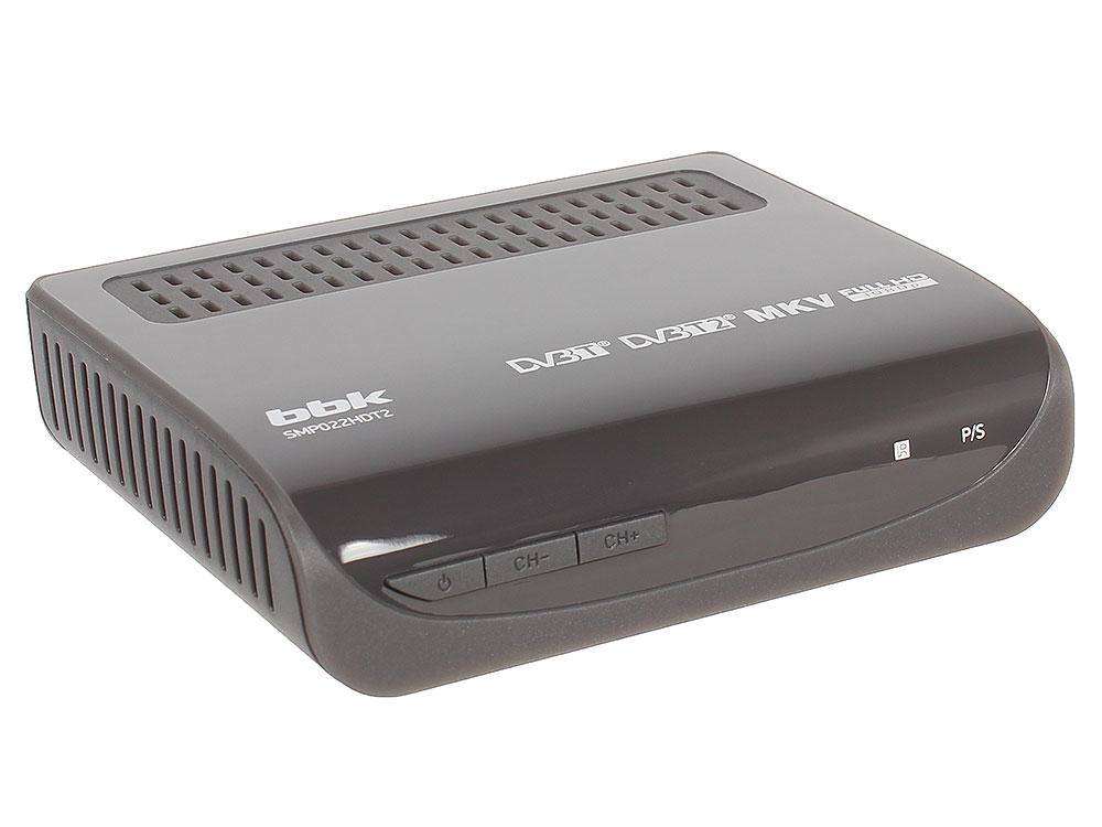 Цифровой телевизионный DVB-T2 ресивер BBK SMP022HDT2 тёмно-серый original dvb t satlink ws 6990 terrestrial finder 1 route dvb t modulator av hdmi ws 6990 satlink 6990 digital meter finder