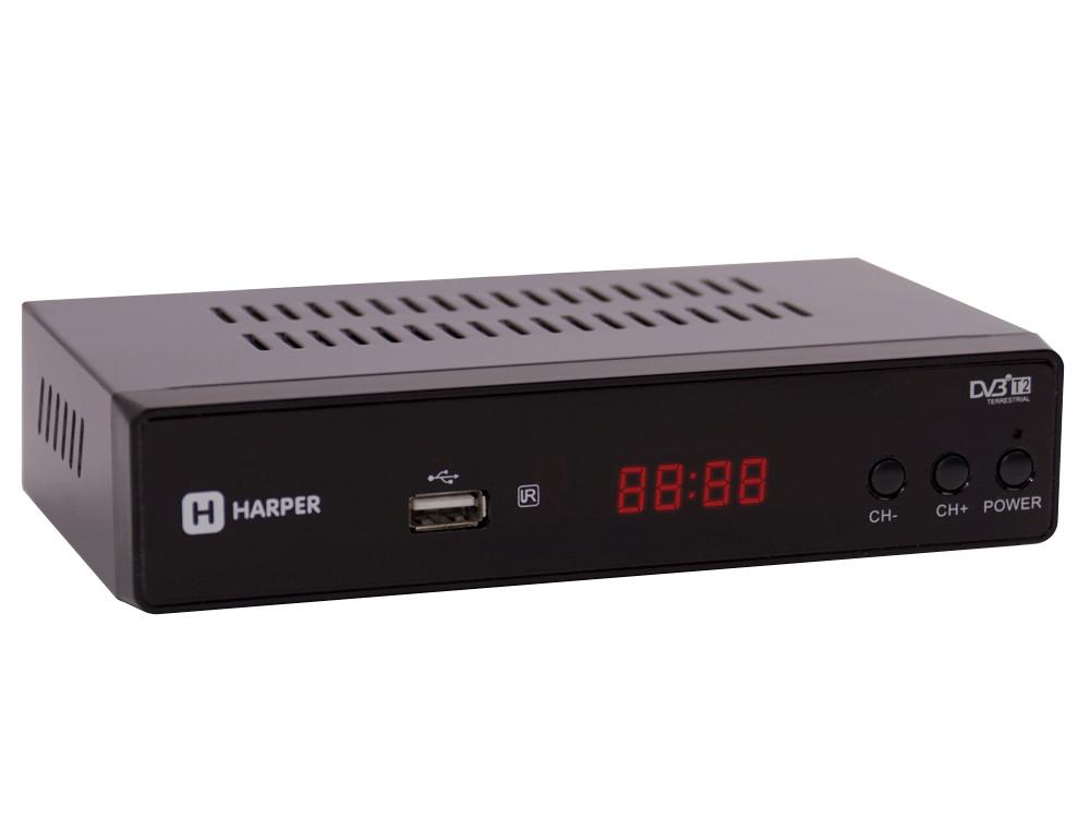 Цифровой телевизионный DVB-T2 приемник HARPER HDT2-5050 с функцией FHD медиаплеера