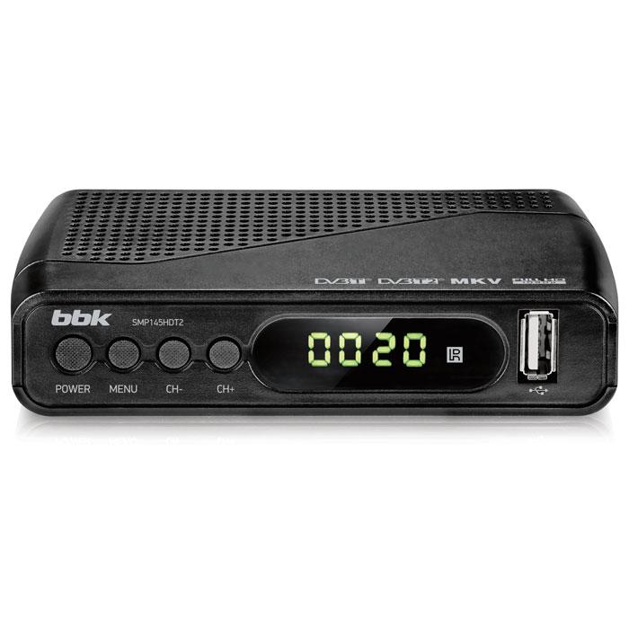 Цифровой телевизионный DVB-T2 ресивер BBK SMP145HDT2 тёмно-серый ресивер dvb t2 bbk smp018hdt2 темно серый