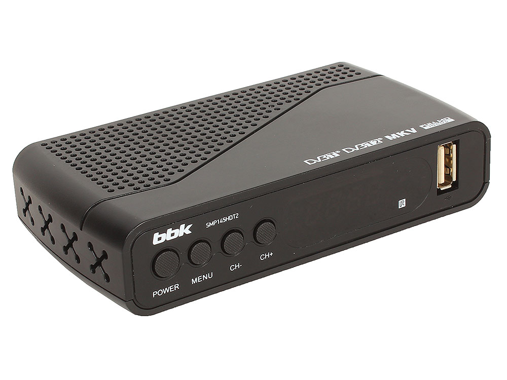 Цифровой телевизионный DVB-T2 ресивер BBK SMP145HDT2 Черный цифровой телевизионный dvb t2 ресивер bbk smp022hdt2 черный