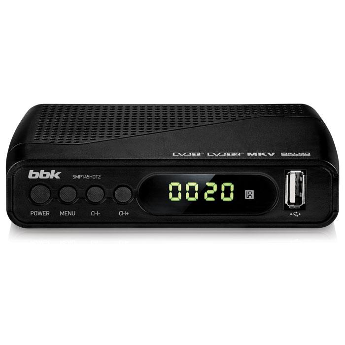 Цифровой телевизионный DVB-T2 ресивер BBK SMP145HDT2 Черный ресивер эфирный цифровой dvb t2 омское по иртыш hd 1080p