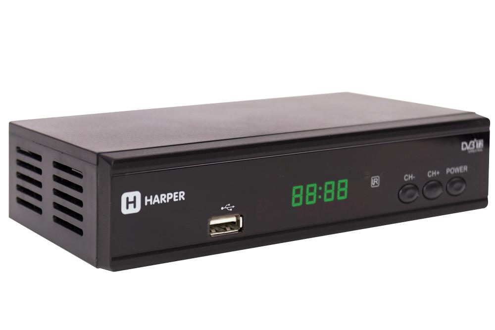 Цифровой телевизионный DVB-T2 приемник HARPER HDT2-2015 с функцией FULL HD медиаплеера микроскоп цифровой телевизионный dino lite am4112ptl