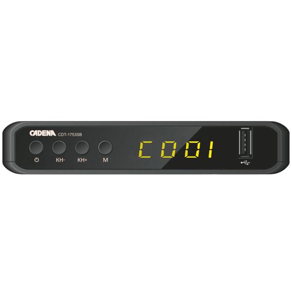 Цифровой телевизионный DVB-T2 ресивер CADENA CDT-1753SB цифровой телевизионный dvb t2 ресивер bbk smp023hdt2 темно серый