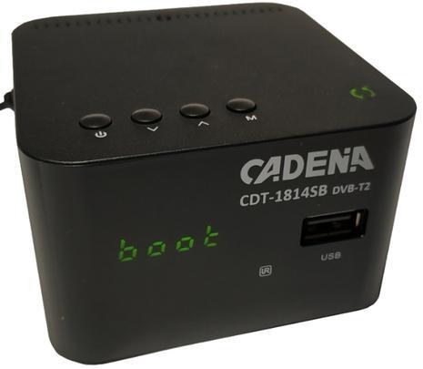 Цифровой телевизионный DVB-T2 ресивер CADENA CDT-1814SB цифровой телевизионный dvb t2 ресивер bbk smp023hdt2 темно серый