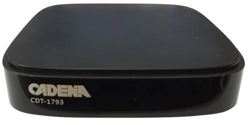 Цифровой телевизионный DVB-T2 ресивер CADENA CDT-1793 tesler dsr 310 цифровой телевизионный ресивер dvb t2