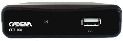 Цифровой телевизионный DVB-T2 ресивер CADENA CDT-100