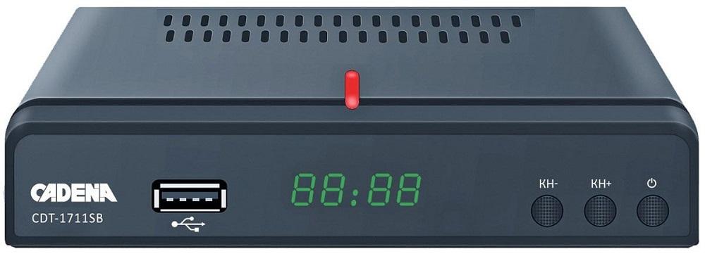 Цифровой телевизионный DVB-T2 ресивер CADENA CDT-1711SB цифровой телевизионный dvb t2 ресивер bbk smp023hdt2 темно серый