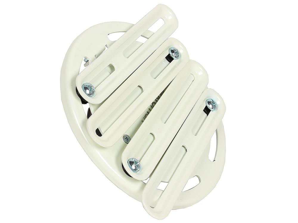 Кронштейн Kromax PROJECTOR-200 white, для проекторов, max 30 кг, потолочный, 3 ст своб/, наклон ±20°, вращение на 360°, от потолка 520-600 мм