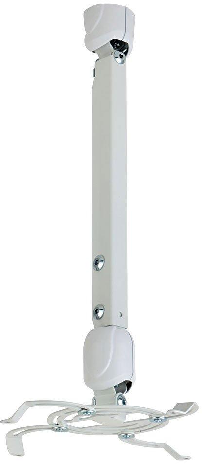 Кронштейн Kromax PROJECTOR-400w white, для проекторов, max 15 кг, потолочный, 3 ст свободы, наклон 30°, вращение на 360°, от потолка 565-811 мм, декор kromax projector 30