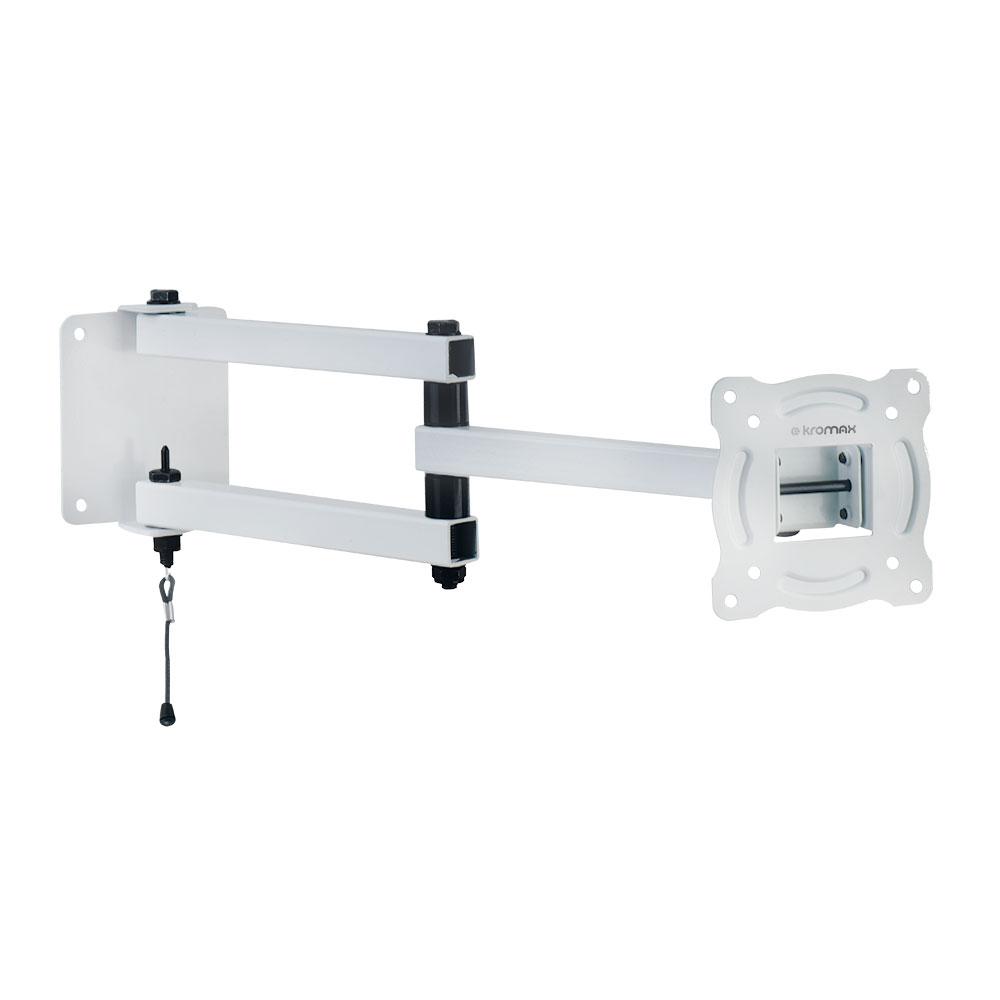 Кронштейн Kromax AUTO-ARM-1 белый 15-28 наклонно-поворотный до 30кг кронштейн kromax auto arm 1 белый 15 28 наклонно поворотный до 30кг