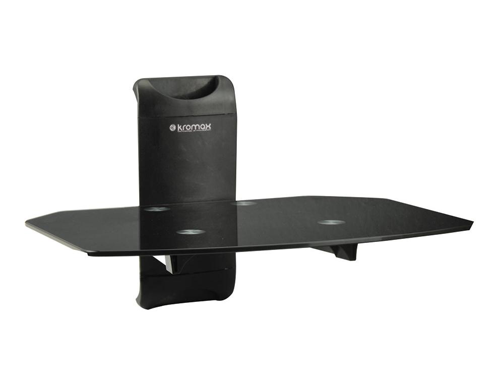 Кронштейн Kromax X-MONO black, Полка настенный для DVD и AV-тех. max 5 кг.