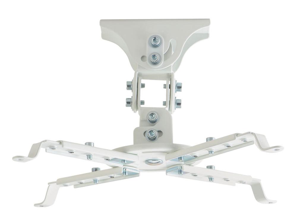 Кронштейн Kromax PROJECTOR-45W White пот. для проекторов max 12 кг, 3 ст св., нак. ±20°, пов. 360°, от пот. 150 мм.
