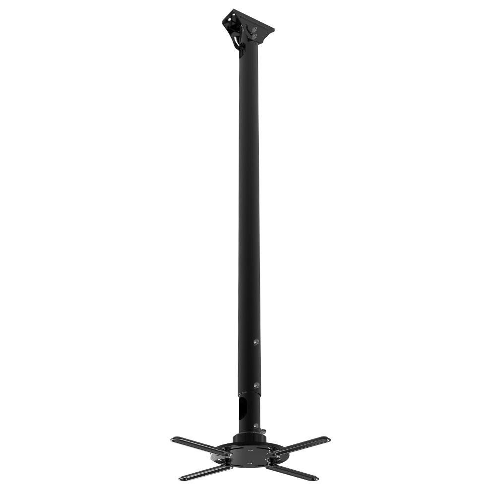 Кронштейн KROMAX PROJECTOR-2000 Черный для проекторов, max 20 кг, потолочный, 3 ст своб/, наклон ±20°, вращение на 360°, от потолка 120-200 мм теплоотводящая подставка для ноутбуков kromax satellite 60 ноутбука планшетника наклон размер 52х26 см max 9 кг