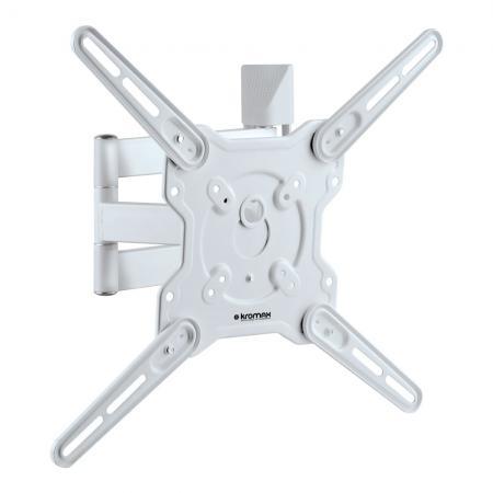 Кронштейн Kromax Optima-406W белый 22-65 настенный, 5 ст свободы, от стены 60-506мм наклон +5°/-15° VESA 400х400м, max 40 кг кронштейн для тв kromax star 22