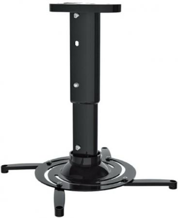 Кронштейн для проектора Cactus CS-VM-PR05M-BK Black потолочный, наклонно-поворотный, до 10 кг кронштейн для проектора chief cms006b black