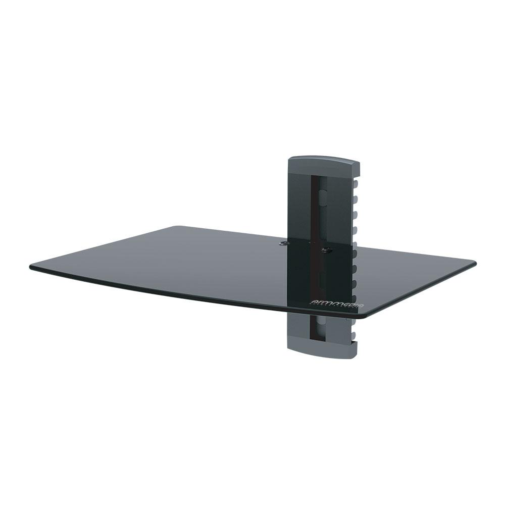 Кронштейн для для DVD и AV систем Arm media DVD-100b черный Размер полки: 360*245*5 до 10кг, закаленное стекло