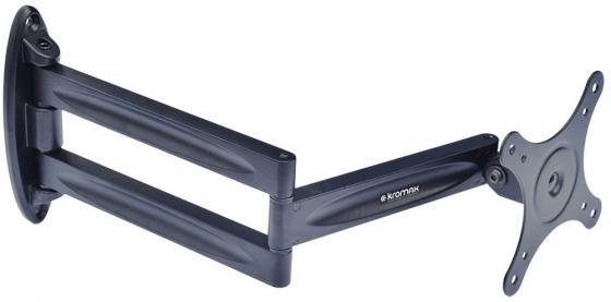 Кронштейн Kromax Techno-11 черный 10-32 настенный до 15кг кронштейн наклонно поворотный kromax techno 2 15 26 до 15кг vesa до 100x100 чёрный