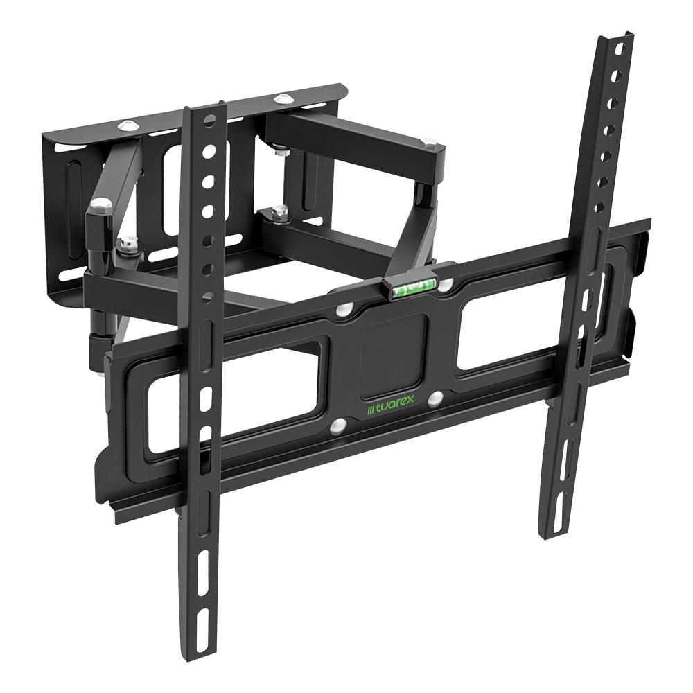 Кронштейн Tuarex OLIMP-406 black, настенный для TV 26-55, поворот 120, наклон +10-12, от стены 72-397мм, макс 40кг, VESA 400x400 кронштейн mart 101s черный для 10 26 настенный от стены 18мм vesa 100x100 до 25кг