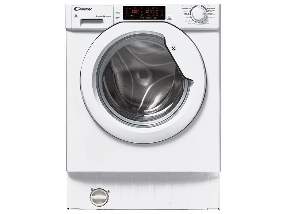 Встраиваемая стиральная машина Candy CBWD 8514TWH-07 встраиваемая стиральная машина bosch wkd28541oe