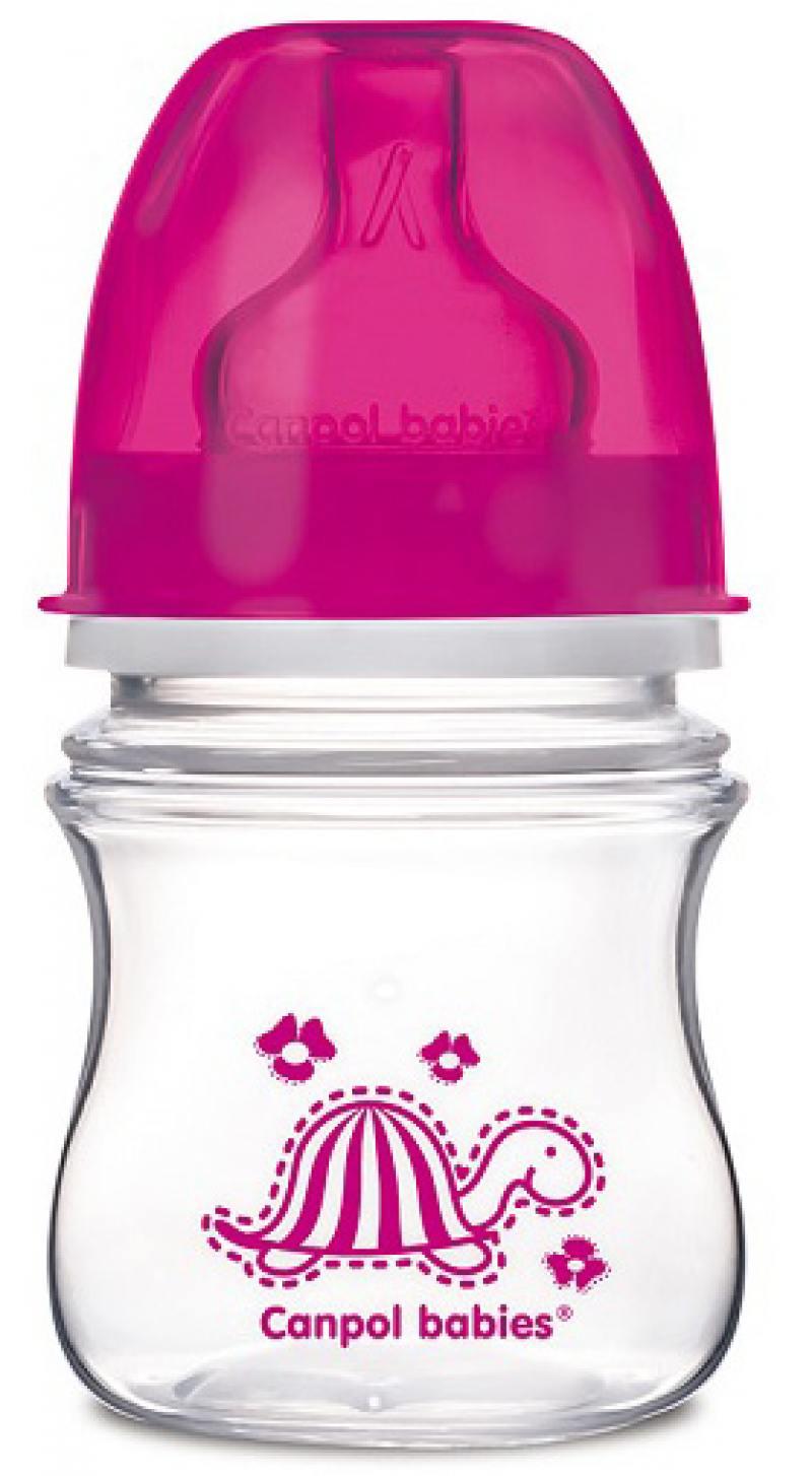 Бутылочка для кормления Canpol EasyStart 120 мл с 3 месяцев розовый 35/205 набор для кормления детей canpol babies веселые зверушки 120 мл 11 851