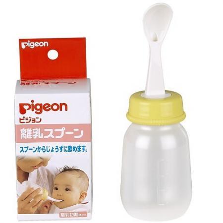 PIGEON Бутылочка с ложечкой для кормления 4 мес 120 мл