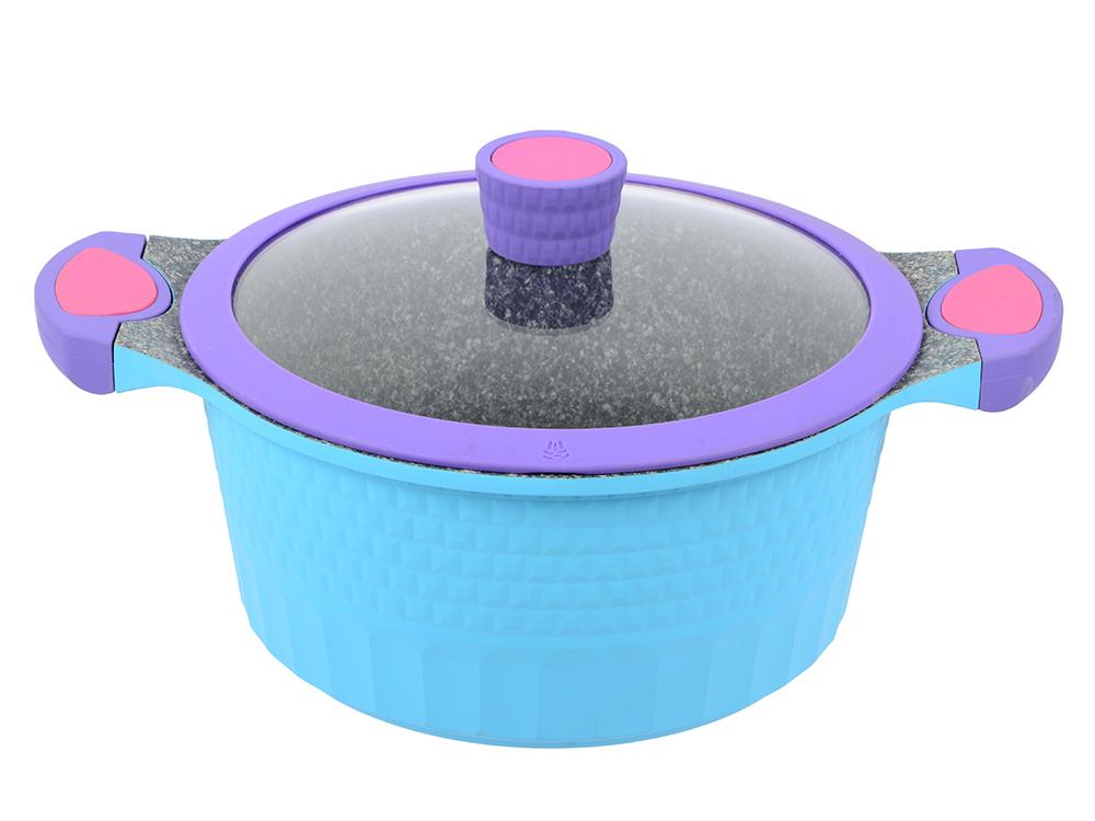 Кастрюля ENDEVER Aquarelle-243 28 см 6.9 л алюминий полотенца банные aquarelle полотенце aquarelle размер 70 140см серия таллин цвет ваниль