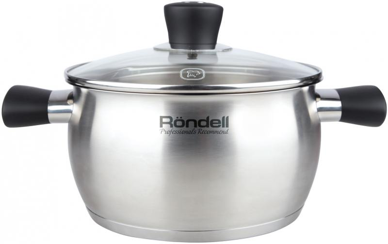 Кастрюля Rondell Dominant (ST) 831-RDS 18 см 2.4 л нержавеющая сталь