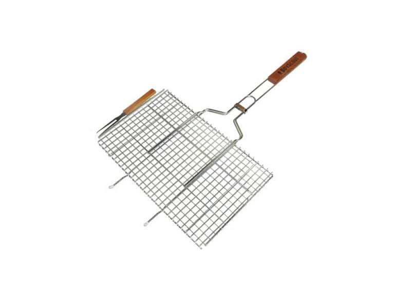 Решетка-гриль Boyscout 61301 для стейков большая с вилкой 70+5x45x27x2cм манометр walcom 61301