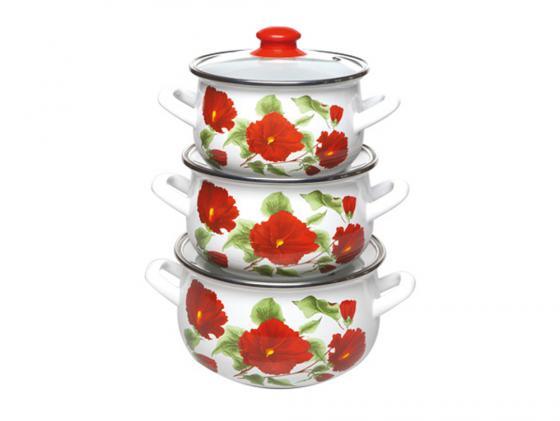 Набор кастрюль Interos 2392 Каркаде набор посуды interos 15231 маслины