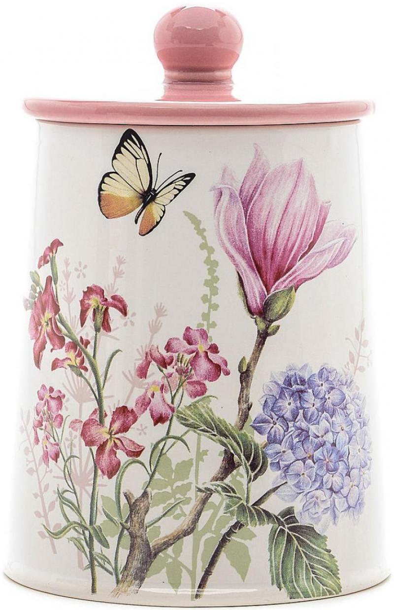 Банка для сыпучих Loraine LR-25632 с рисунком бабочки