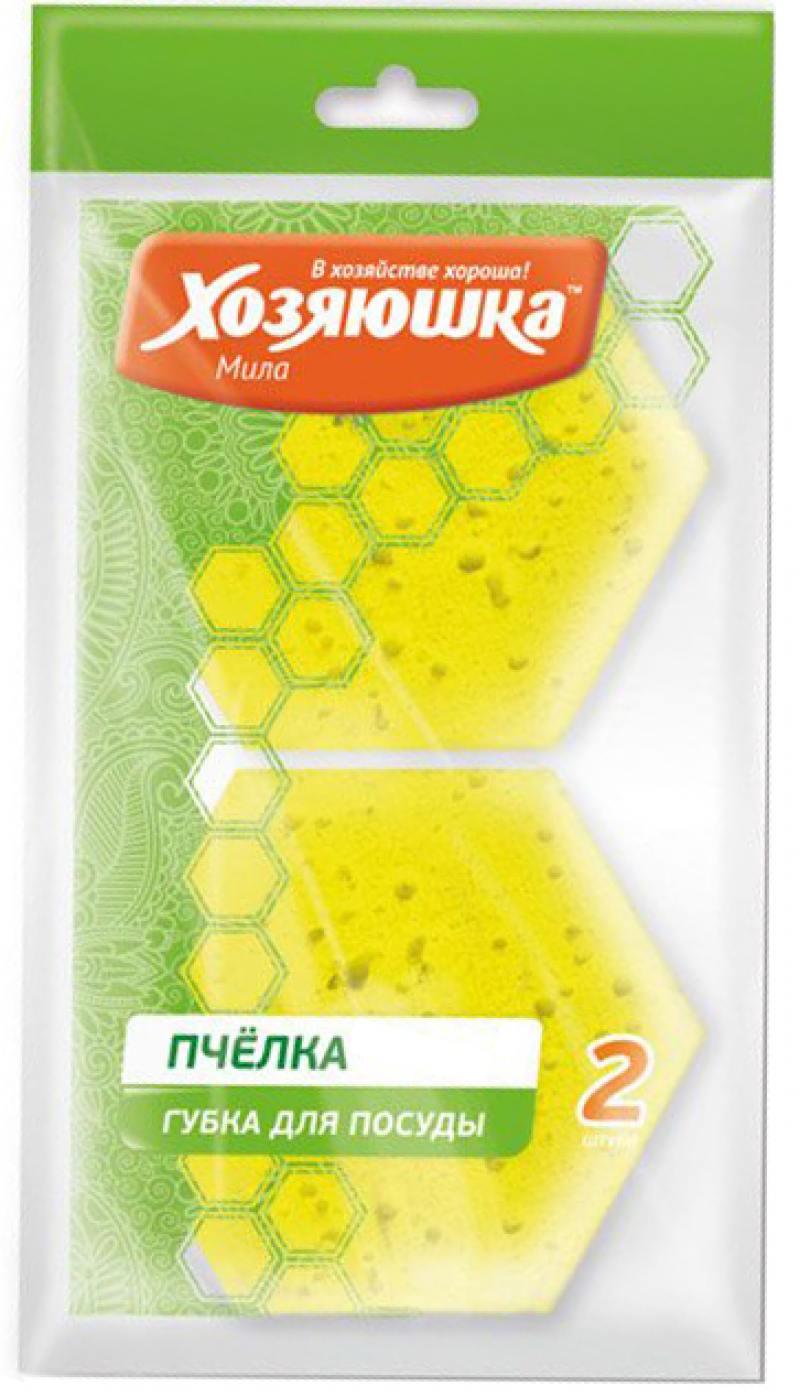 Губка для тефлона Хозяюшка Мила Пчелка 01020