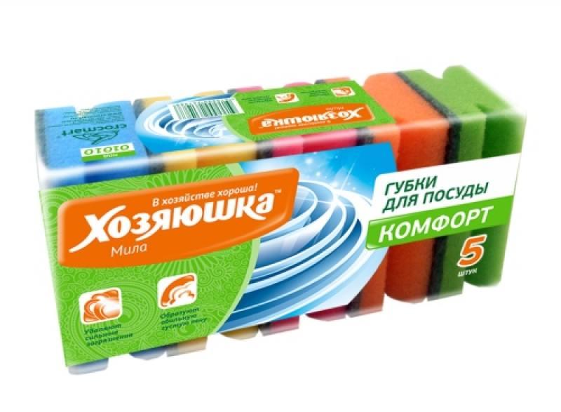 Губка для посуды Хозяюшка Мила Комфорт 01010