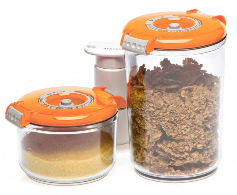 Набор контейнеров для вакуумного упаковщика Status VAC-RD-Round оранжевый набор контейнеров для вакуумирования status vac rd round white