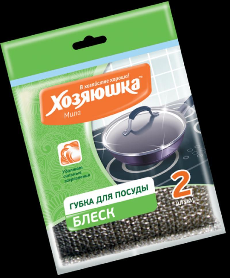 Губка для посуды Хозяюшка Мила Блеск 01018-100