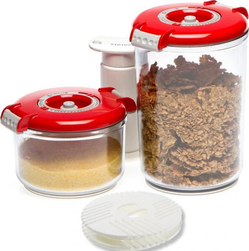 Набор контейнеров для вакуумного упаковщика Status VAC-RD-Round красный набор контейнеров для вакуумирования status vac rd round white