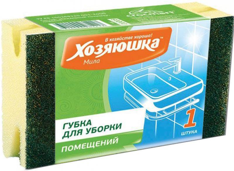 Губка для уборки Хозяюшка Мила Большая 01015