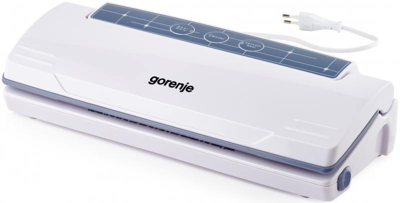 Вакуумный упаковщик Gorenje VS110W 250Вт серебристый/черный вакуумный упаковщик redmond rvs m020 gray metallic