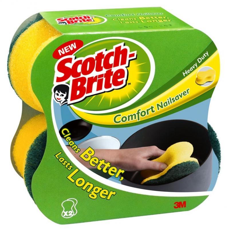 Губка для посуды 3M Scotch-Brite Комфорт 2шт 7000037594