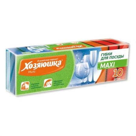 ХОЗЯЮШКА Мила Губка для посуды MAXI 10шт