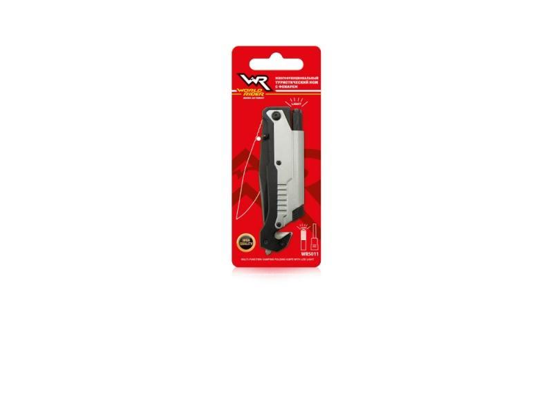 Нож СПАСАТЕЛЬ с фонарем World Rider WR 5011